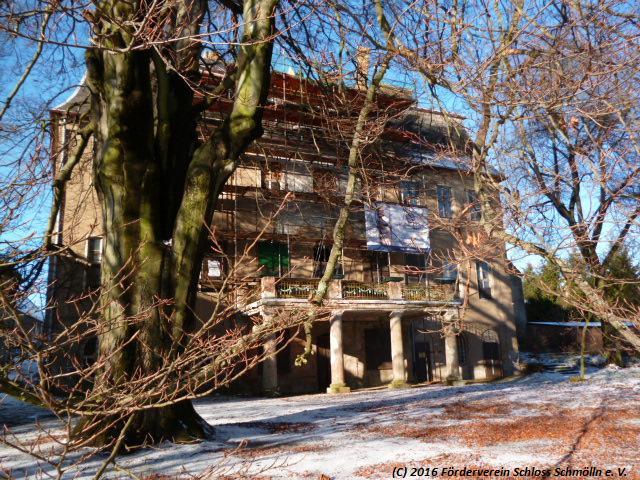 Schloss Parkseite im Winter (Jan. 2016)
